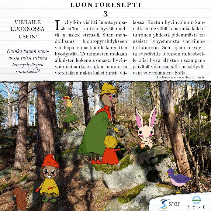 Luontoreseptikirjan sivu